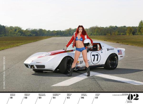 Girls & legendary US-Cars 2021: Wochenkalender von Carlos Kella mit 53 Kalenderblättern, limitiert und auf dem Titel nummeriert.